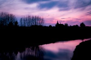 Natuur - Zonsondergang, Kerk Neer